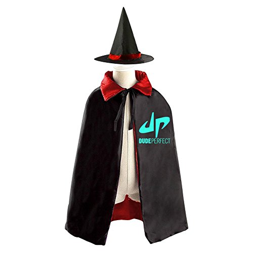 Robe Dude Costume The (DBT Dude Perfect DP Logo Childrens' Halloween Costume Wizard Witch Cloak Cape Robe and)