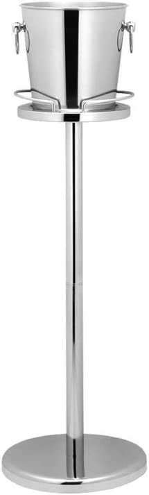Leopold Vienna 260 x 680 mm Stainless Steel Stand for Champagne Cooler, Silver