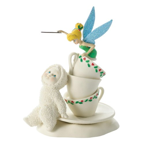 Department 56 Snowbabies Tinker Bell s Tea Time Figurine, 7.5 inch