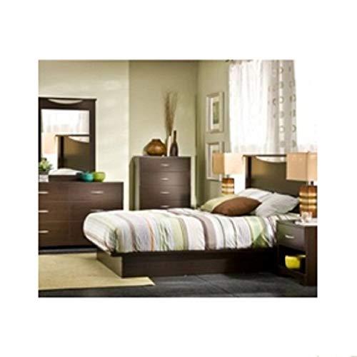 Modern 6-Drawer Bedroom Dresser in Chocolate Wood Finish Dresser Bedroom Chest Drawers Drawer French Storage Mid Century Style Svitlife