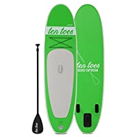 Ten Toes Board Emporium Weekender Inflatable Stand Up Paddle Board Bundle, Green, Medium/10'