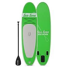 Ten Toes Boards Ten Toes Board Emporium Weekender Inflatable Stand up Paddle Board Bundle, Green, Medium/10-Feet