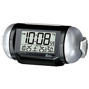 PYXIS 目覚まし時計 スーパーライデン デジタル 電波時計 大音量 NR523K