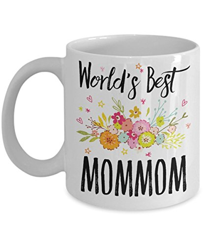 Mommom Mug - World's Best Mommom - Best Mommom Ever - A Thank You Or Appreciation Gift - Coffee Cup In 11oz Or 15oz Sizes