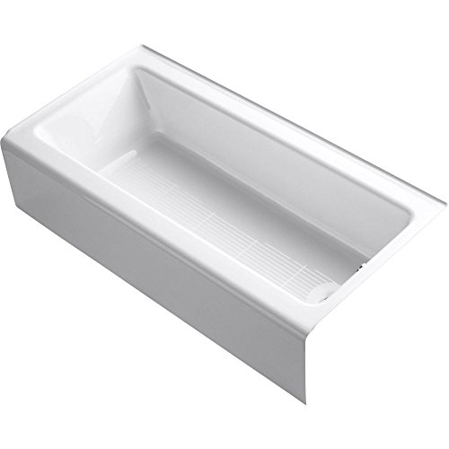 Bellwether 60 In. x 30 In. Alcove Bah with Integral Apron, Tile Flange, and Right-Hand Drain, White -