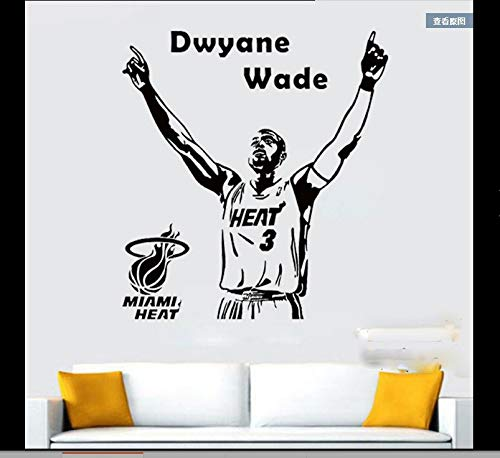 NBA Star Wade Wall Stickers Students Living Room Bedroom Creative Background Decoration Painting