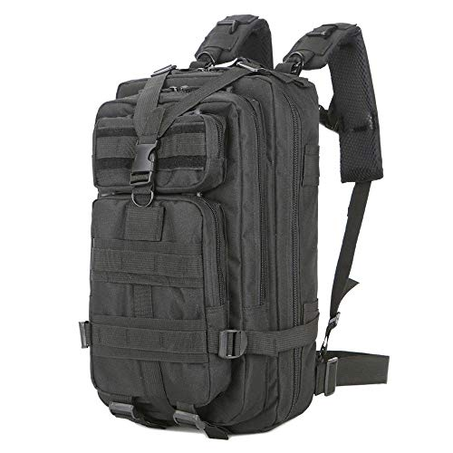 Pro-G 30L Black Backpack Camping Trekking Shoulder Bag Outdoor Military Rucksack Tactica by Pro-G