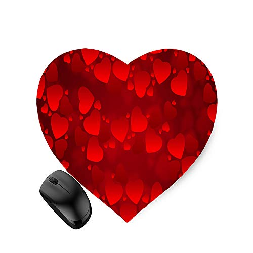 Vector Art Hearts red Shapes (Heart-Shaped) Mouse Pad 8.6