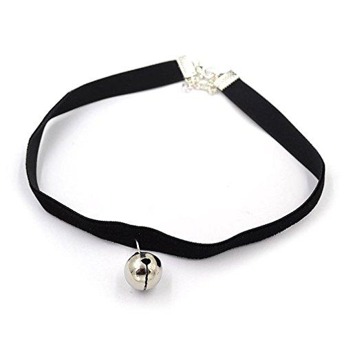 Choker Eye Necklace Cat (maxgoods Fine Black Velvet Choker Necklace Tiny Cat Collar Bell Gothic Cosplay Eye Neck)
