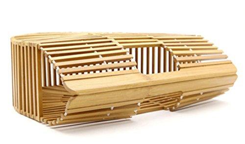 Hembra Rota Al Aire Libre Para Bolso Natural Embrague Regalo Paja Playa Bambú Mujer Moda Acrílico U80FzFI