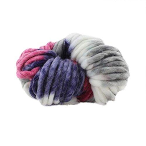 O-wool Classic Yarn (Vibola Merino Wool Yarn Super Soft Worsted Smooth Chunky Knitting Yarn Bulky Arm Knitting Wool Roving Crocheting DIY For Chunky Blanket Hand Knitted Hat Scarf (B, 250g))