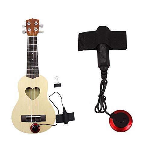 EDTara Accesorios de Instrumento, Pastillas de Micrófono Piezo Contact para Guitarra Violin Banjo Ukulele