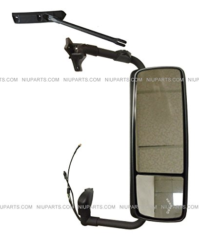 Door Mirror Gloss (Door Mirror Power Heated Gloss Black with Turn Signal and Arm - Passenger Side ( Fit: Volvo VNL VN VNM Truck ))
