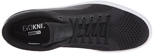 PUMA Basket Classic Evoknit Fashion Sneaker, Black Blac, 12 M US