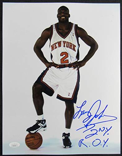 - Larry Johnson Signed Auto Autograph 11x14 Photo JSA DD14547