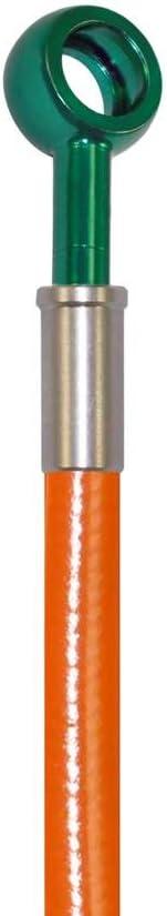 Orange Hose /& Stainless Green Banjos Pro Braking PBK9315-ORA-GRE Front//Rear Braided Brake Line