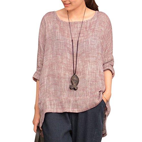 オリエント彼女自身かかわらずMIOIM ブラウス tシャツ レディース ゆったり 大きいサイズ 半袖 綿 無地 カットソー カジュアル 夏 トップス
