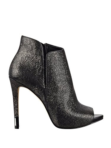 Adara Shoe (GUESS Womens Adara Peep Toe Ankle Fashion Boots, Pewter, Size 6.0)