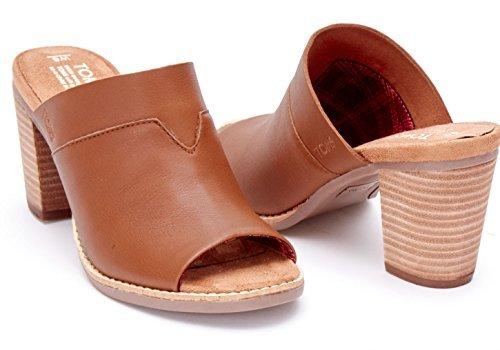 718e0993020 Galleon - Toms Majorca Mule Sandals Cognac Leather 10007903 Womens 8.5
