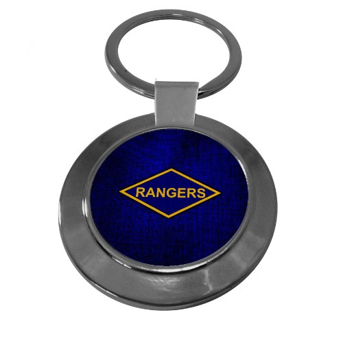 Army Ranger Insignia - Premium Key Ring with U.S. Army Ranger Battalions (Airborne), obsolete insignia