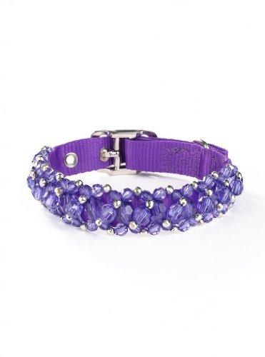 Fabuleash 16 Inch Beaded Dog Collars - TANZANITE