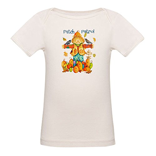 Royal Lion Organic Baby T-Shirt Halloween Scarecrow Pumpkins Crows - 3 to 6 Months ()