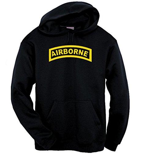 Airborne Hooded Sweatshirt (Got-Tee Airborne Special Forces Sweatshirt / Hoodie XL Black)