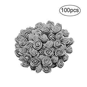 Balai Rose Flower Heads - 100-Pack Artificial Crafts Roses, Perfect Wedding Decorations, Baby Showers 86