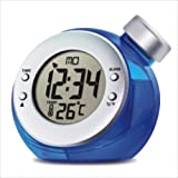 Water Powered Thermometer Alarm Clock (Blue)