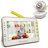 "Special Offer! MoonyBaby Video Baby Monitor, 4.3"" LCD Screen, Split Screen, Remote Camera Pan-Tilt-Zoom, Auto Night Vision, Lullabies & Night Light, VOX, Temperature Monitoring, 2-Way Talkback"