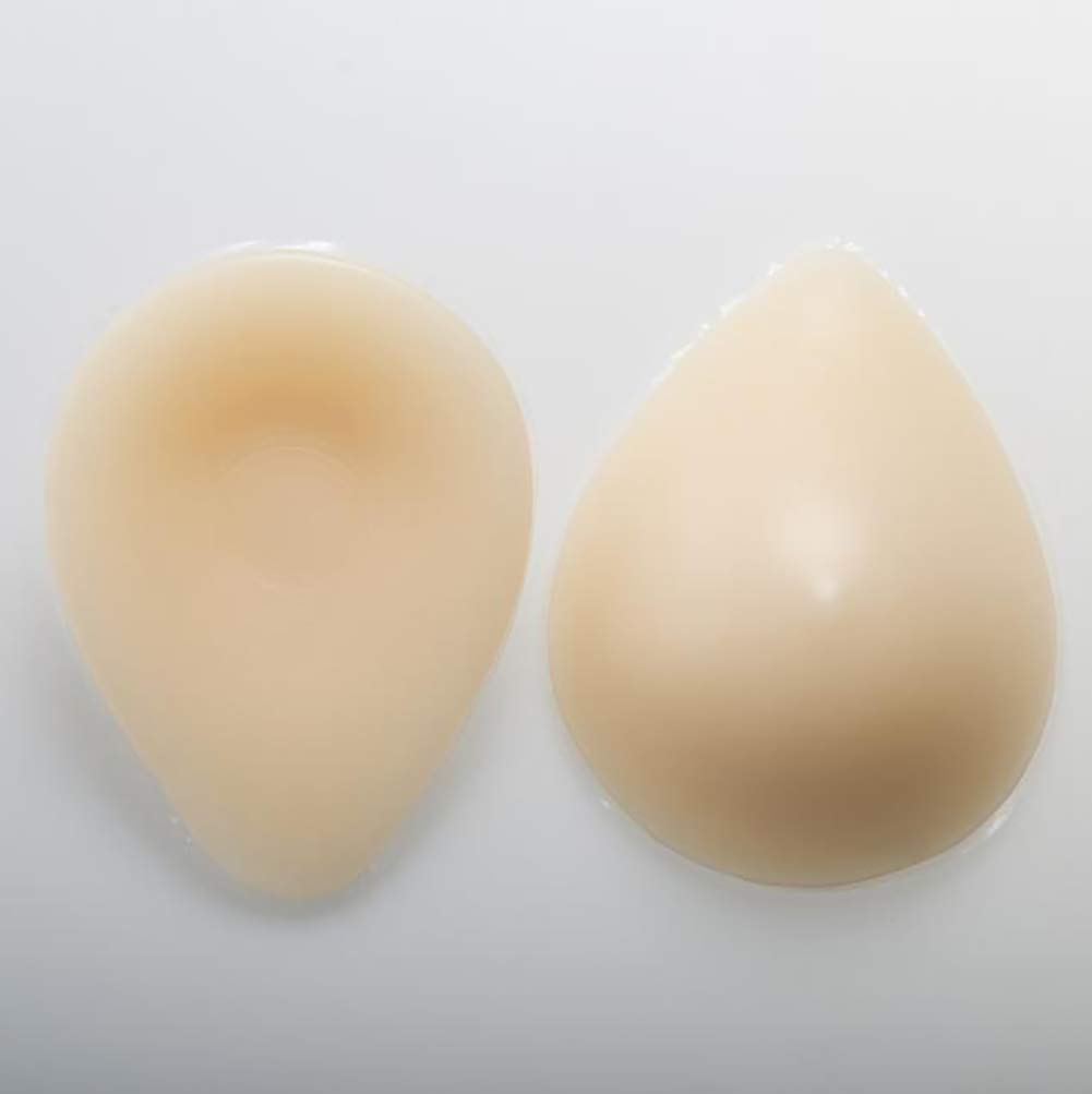 Love of Life 1Pair Mastectomy Silicone Breast Forms Women Soft Bra Inserts Waterdrop Shaped Breast Enhancers for Bras Swimsuits,1,500g/Pair/6x4x2in
