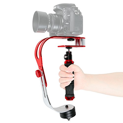 pangshi Video Camera Stabilizer with Low Profile Handle Compatible with GoPro, Smartphone, Canon, Nikon Or Any Camera up to 2.1 lbs. by pangshi