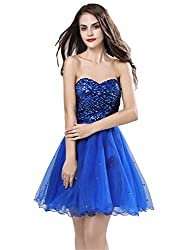 Women's Short Sequin Prom Party Gowns