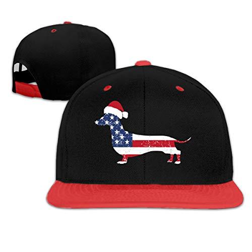 - Wangx-4 American Flag Dachshund Adjustable Baseball Cap Dad Hat Red