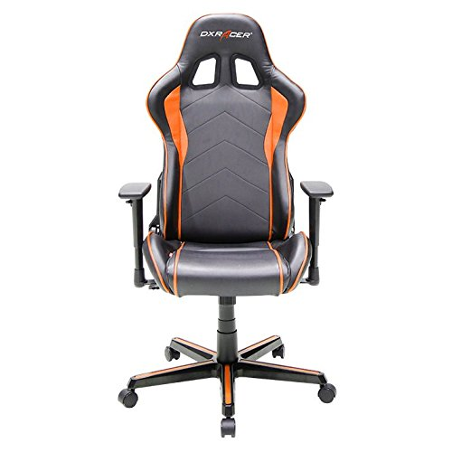 DXRacer OH/FH08/NO Formula Series Black and Orange Gaming Chair - Includes 2 Free Cushions and on Frame