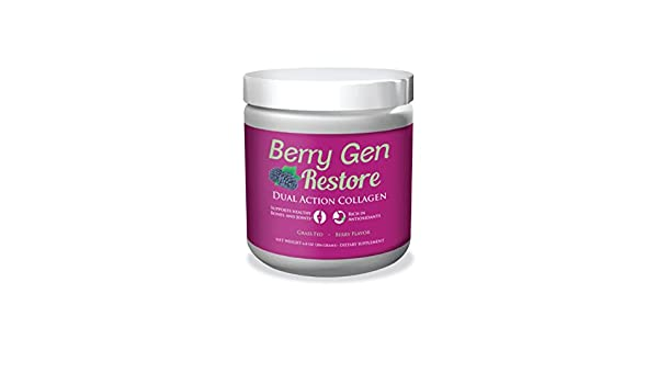 Amazon.com: Berry Gen Restore (3) Dual Action COLLAGEN, Grass-Fed Collagen Peptides, Great Tasting, Easy to Mix Powder: Health & Personal Care