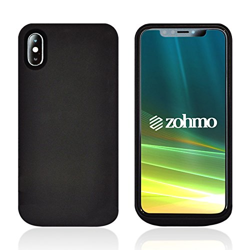 iPhone X Charging Case - iPhone X Battery Case | Best Rechargeable Backup Accessories for Apple 10 Phone | Quality Chargers for Extended Portable Power Pack Cases | 5,000 mAh | 175% Recharge by Zohmo