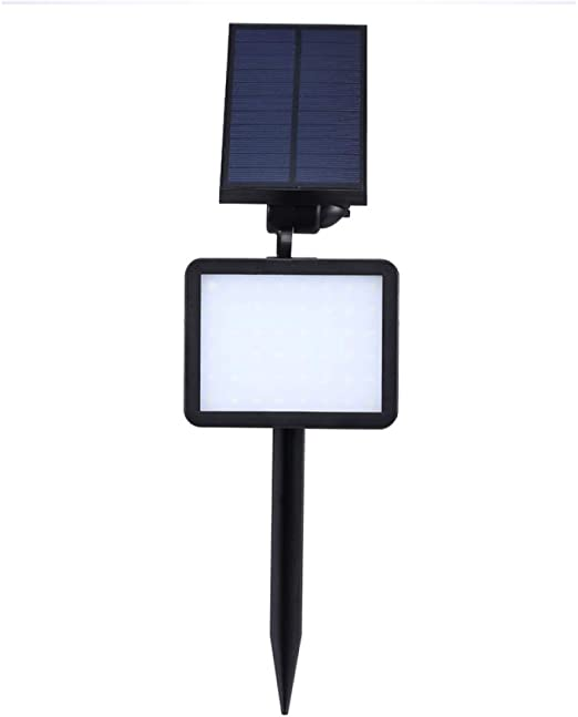 STHfficial 48LED Lámpara De Pared Solar Luz Sensor Foco Impermeable IP65 Exterior Super Brillante Jardín Solar Patio Calle LED Luz De Césped: Amazon.es: Jardín