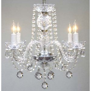 Murano Venetian Style All Crystal Chandelier H17″ x W17″