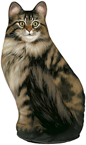 Fiddler's Elbow Long-Haired Tabby Cat Door stop, Decorative Door Stopper, Interior, Cat Doorstop
