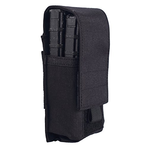 OneTigris Closed Top Single M4 Mag Pouch DD01 (Holds 2) (Black)