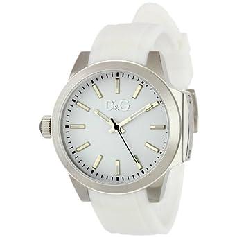 D&G Salz und Pfeffer Damen Mode Silikon Armbanduhr DW0746