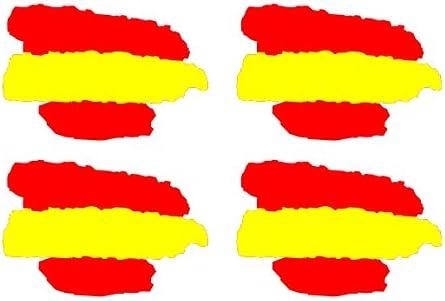 SUPER STICKER Pegatina Bandera de España pincelada, Lote 4 ...
