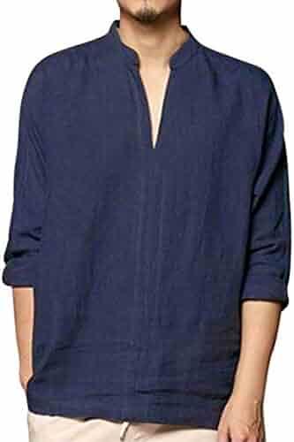 a389e1ad67a1 ... Casual Elastic Waist Classic Fit Shorts. seller  PASATO. (0). PASATO  Men s Baggy Linen Long Sleeve Summer Cotton Retro V Neck T Shirts Tops  Blouse
