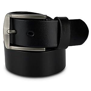 Scott Allan Men's Full Grain 100% Leather Belt - Black, Size 36