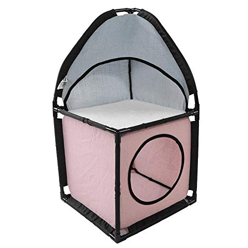 GOTOTOP Cat Tower, Double-Layer Cat House Bed Soft Mat Tent Play Activity Center Pet Cats Supplies