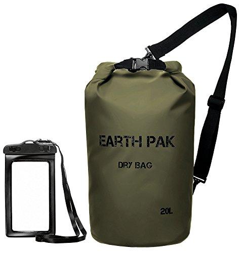 Earth Pak Waterproof Dry Bag - Roll Top Dry Compression Sack Keeps...