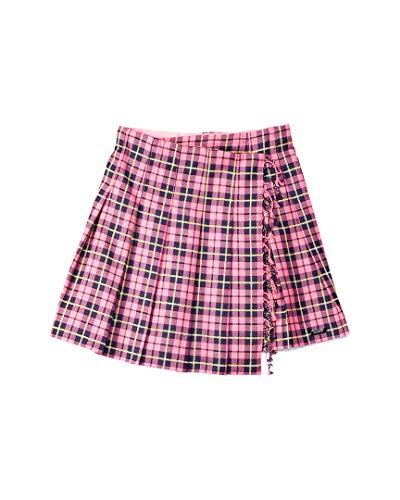 BURBERRY Girls Tartan Wool Skirt, 10Yr, Pink