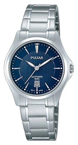 Pulsar Mujer-Reloj analógico de Cuarzo de Acero Inoxidable PH7425X1: Amazon.es: Relojes