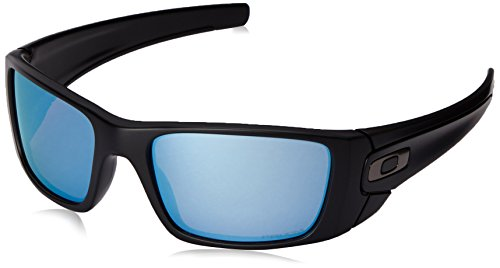 Oakley Men's OO9096 Fuel Cell Rectangular Sunglasses, Matte Black/Prizm Deep H2O Polarized, 60 mm